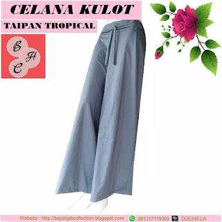 Celana Kulot Taipan Tropical (Serat Linen) Abu-abu Tua