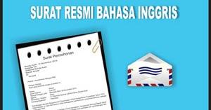 Contoh Surat Resmi Dalam Bahasa Inggris Contoh Surat