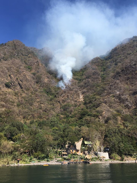 forest fire Lake Atitlan Guatemala La Fortuna