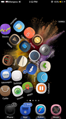 Gravitation is a brand new cydia tweak that adds nice gravity motion to your Home screen App icons.