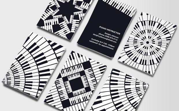 Good company Business Cards for Pianist, Summer 2011