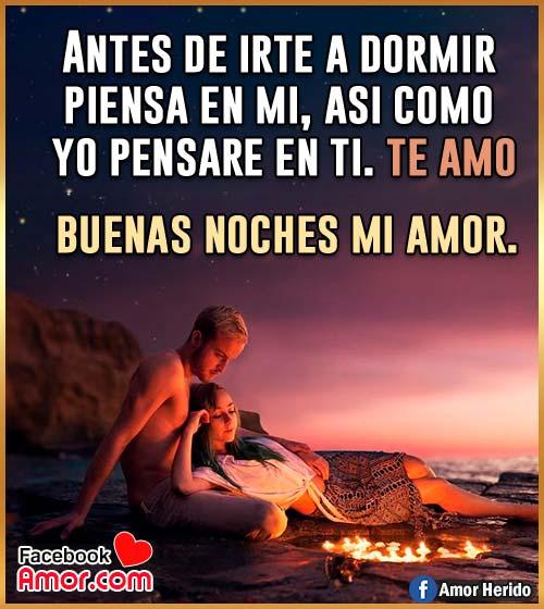 buenas noches mi amor te amo