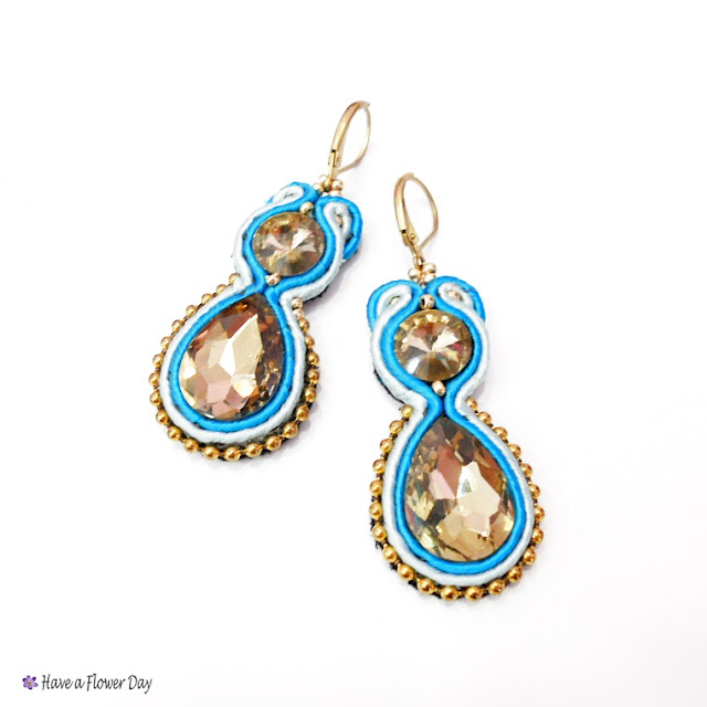 Pendientes cristal y soutache · Crystal earrings with soutache