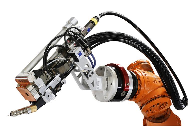 Ультракомпактная сварочная головка: 8 кг, фокусное расстояние: 200/300 мм, размеры – 360 х 150 х 514 мм