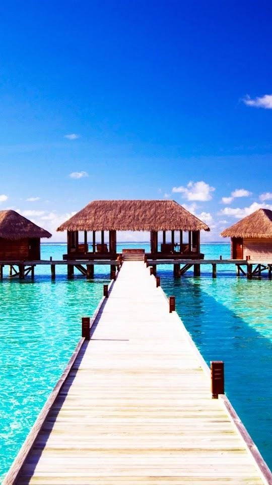 Maldives Pier   Galaxy Note HD Wallpaper