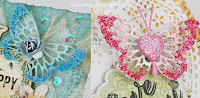DIY sparkly butterfly embellishments tutorial by Tracey Sabella