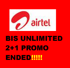 Airtel Blackberry Internet Subscription (BIS) unlimited 2+1 plans are all promos and have ended