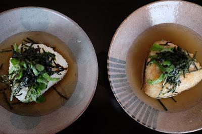 生坂村の古民家カフェ ひとつ石の料理練習 少し浅い器でお茶漬け