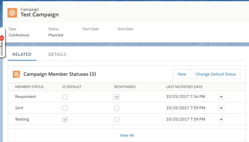 Salesforce / TheMoreYouKnow] Campaign Member Status