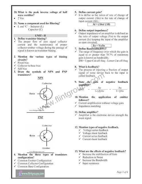 Electronic Devices and Circuits (EDC) : Tamilnadu