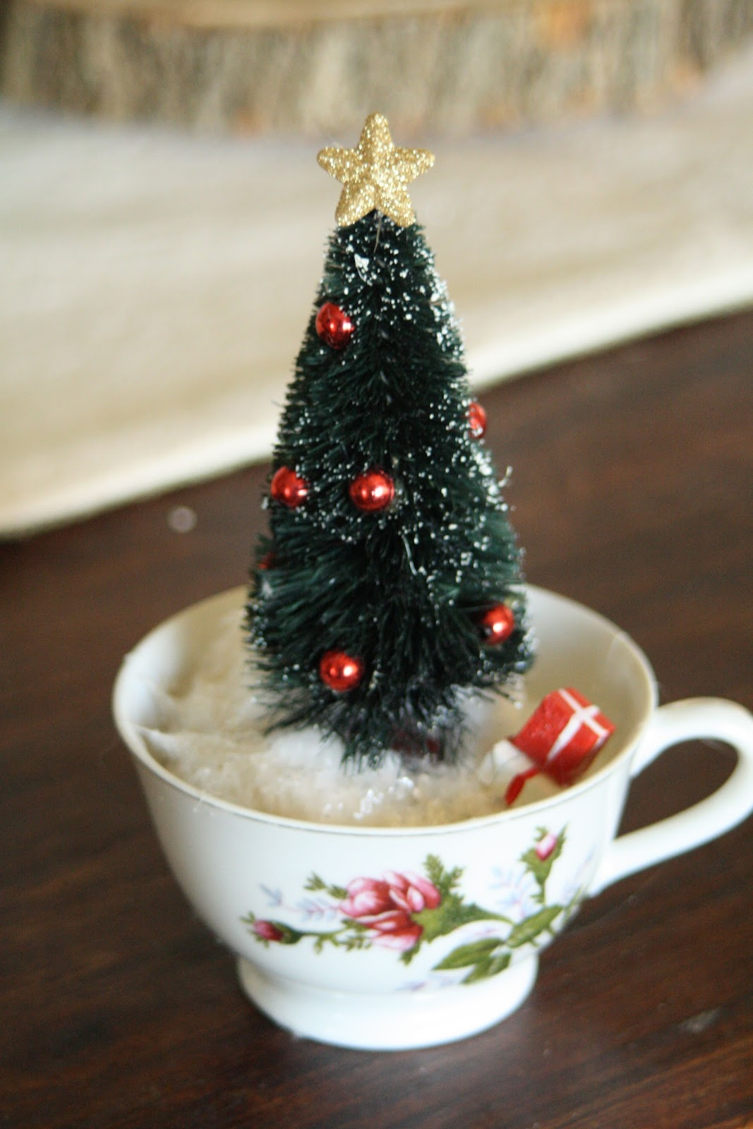 Tea Cup Christmas Trees - Cassie Bustamante