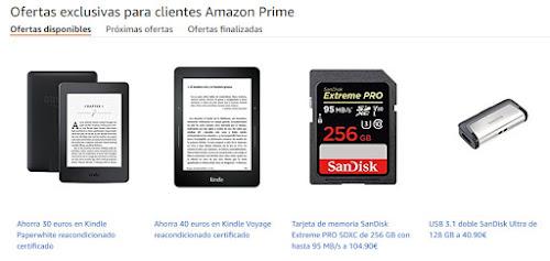 Mejores ofertas exclusivas Amazon Prime