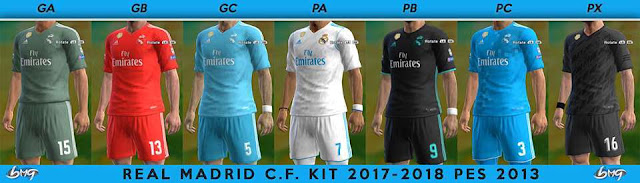 Real Madrid Kit 2017-2018 PES 2013
