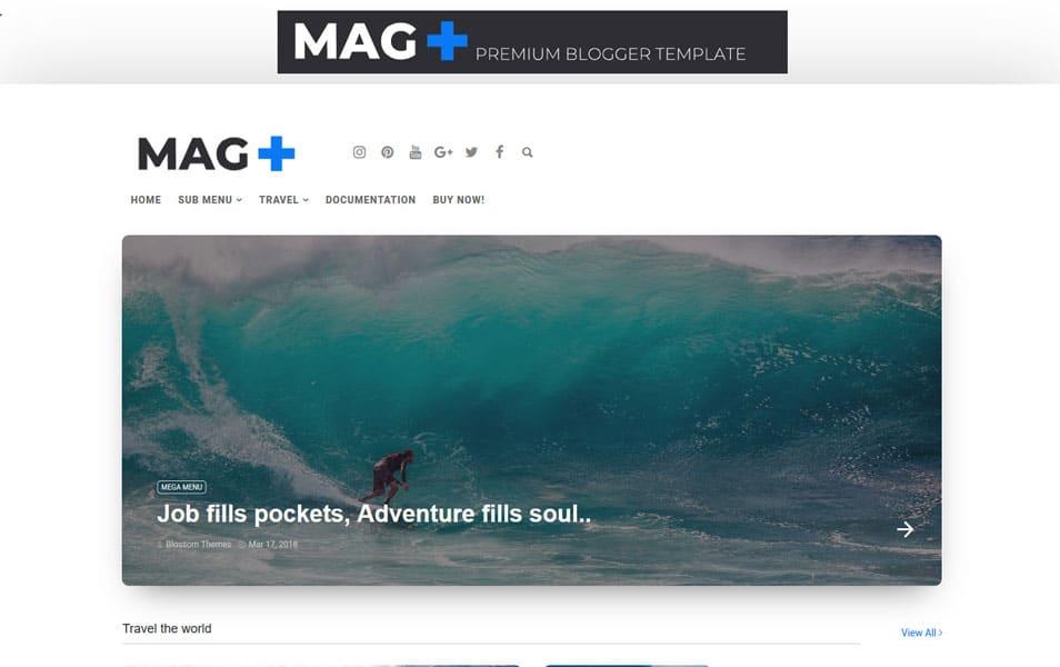 Mag+ Plus Responsive Blogger Teması