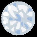 宝石のイラスト(ムーンストーン)