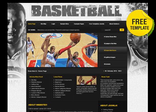 Free Basketball Joomla Template - by Globberstheme