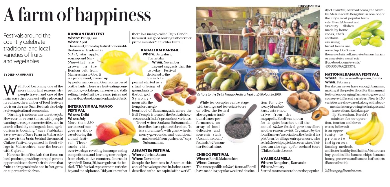 A farm of happiness - mentioned on Mint Travel Lounge