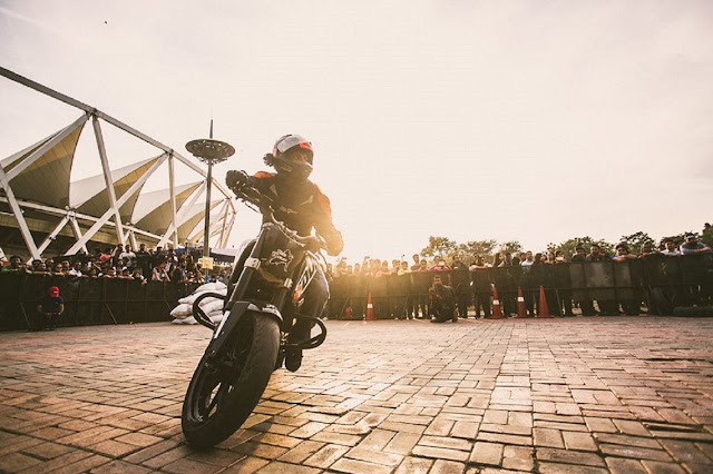 Biking stunt in action at Rider's Music Festival