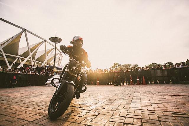 Biking stunt in action at Rider's Music Festival