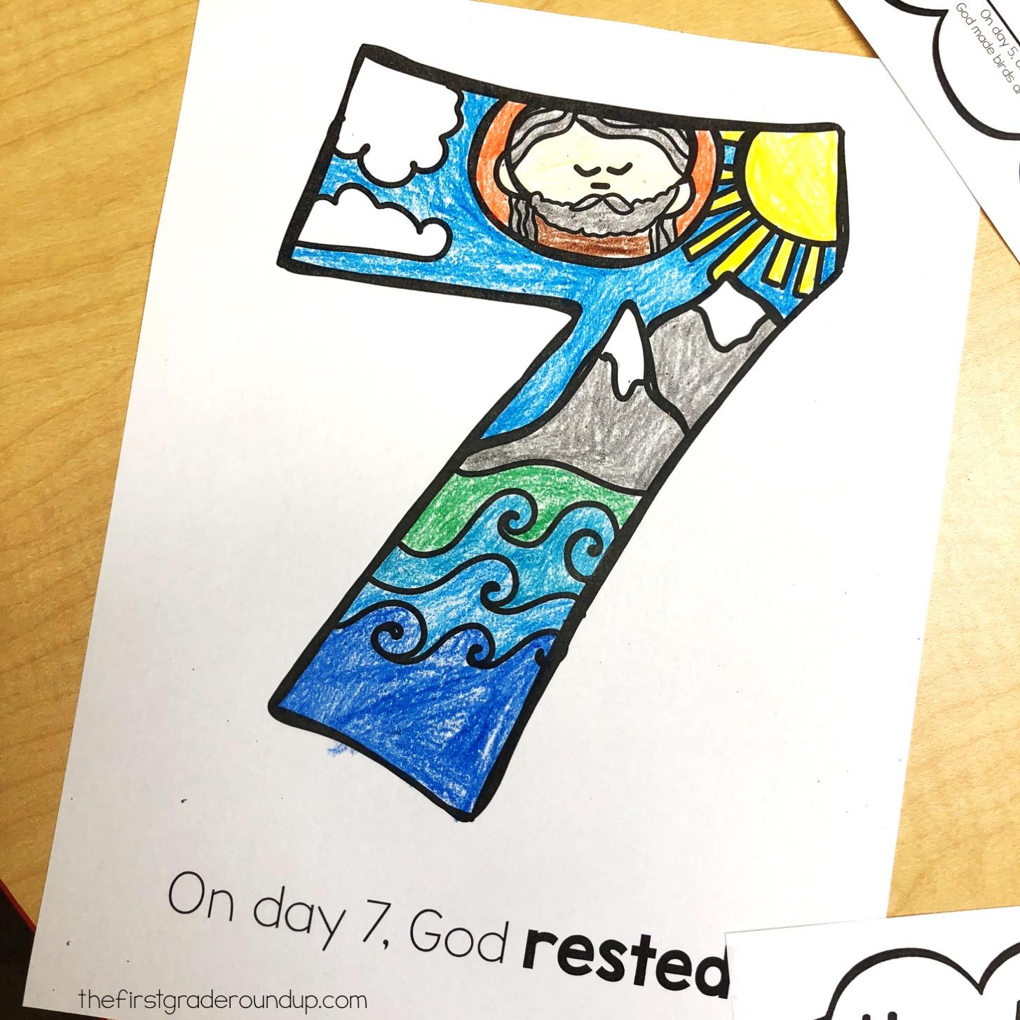 7 Days Of Creation Sunday School Unit