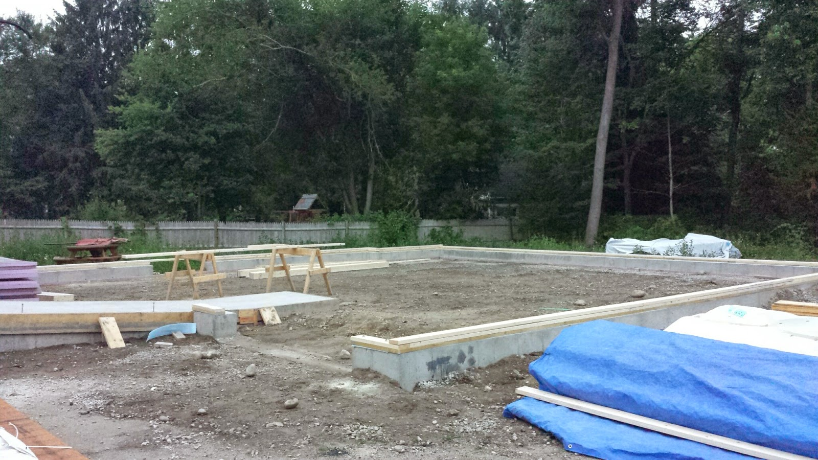 footing laid out for the walls to rise