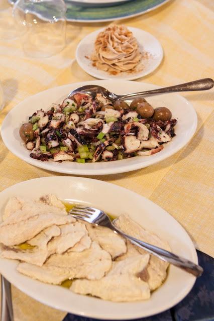 Pranzo al ristorante di Sa pischera e mar'e Pontis-Cabras