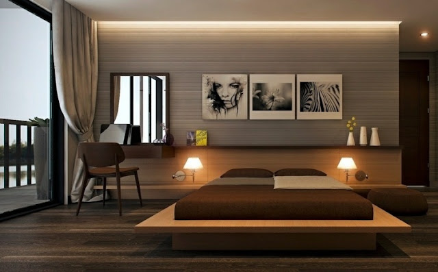 indirect lighting for ceiling in a modern bedroom