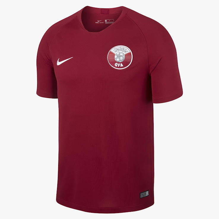 1950d326bc0 ... Nike Qatar 2018 home jersey. +1. 2 of 2. 1 of 2
