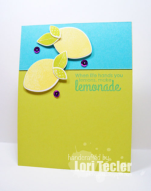 Make Lemonade card-designed by Lori Tecler/Inking Aloud-stamps and dies from Reverse Confetti