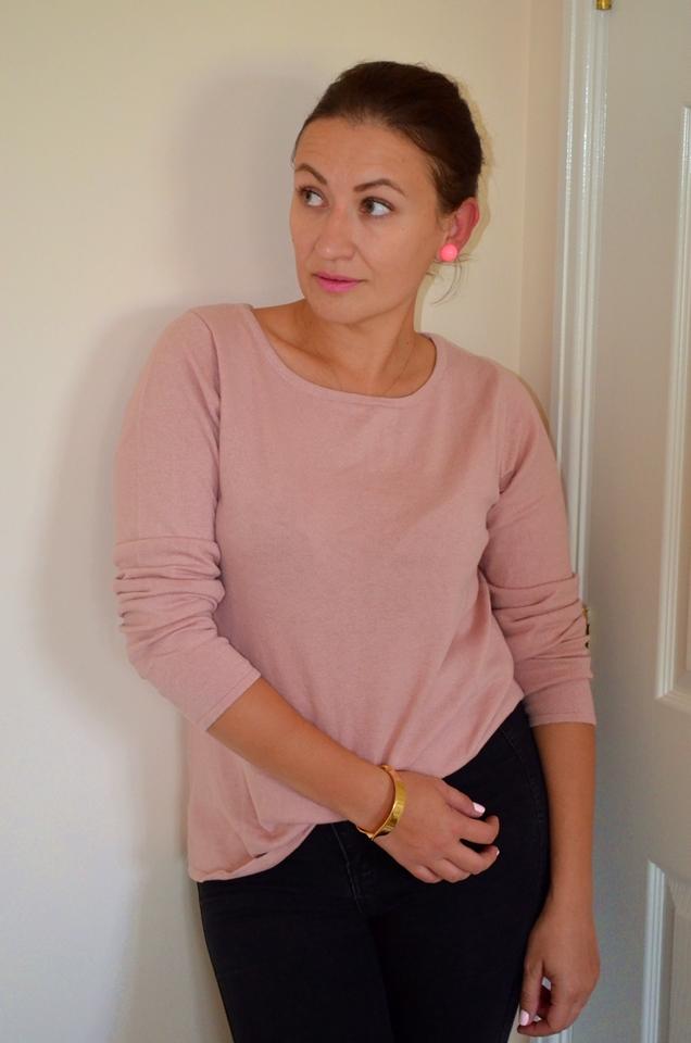 Adriana Style Blog, Blogerka modowa Puławy, jedwabny swetr, Jesienna Stylizacja, Krata Księcia Walii, panterkowe szpilki, swetr bonprix, Żakiet, Wyzwanie Instagramowe, Fashion, Moda