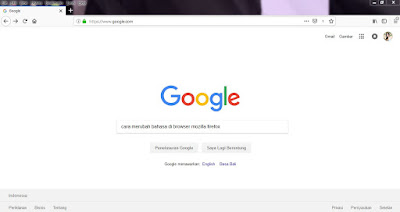 Cara Merubah Bahasa Di Browser Mozilla Firefox