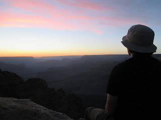 watching the sun set, grand canyon national park