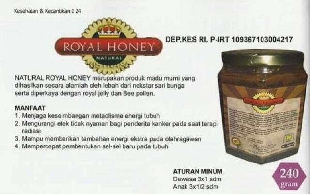 Manfaat natural royal honey