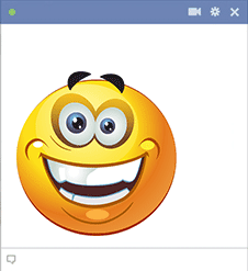 Big smile sticker for Facebook