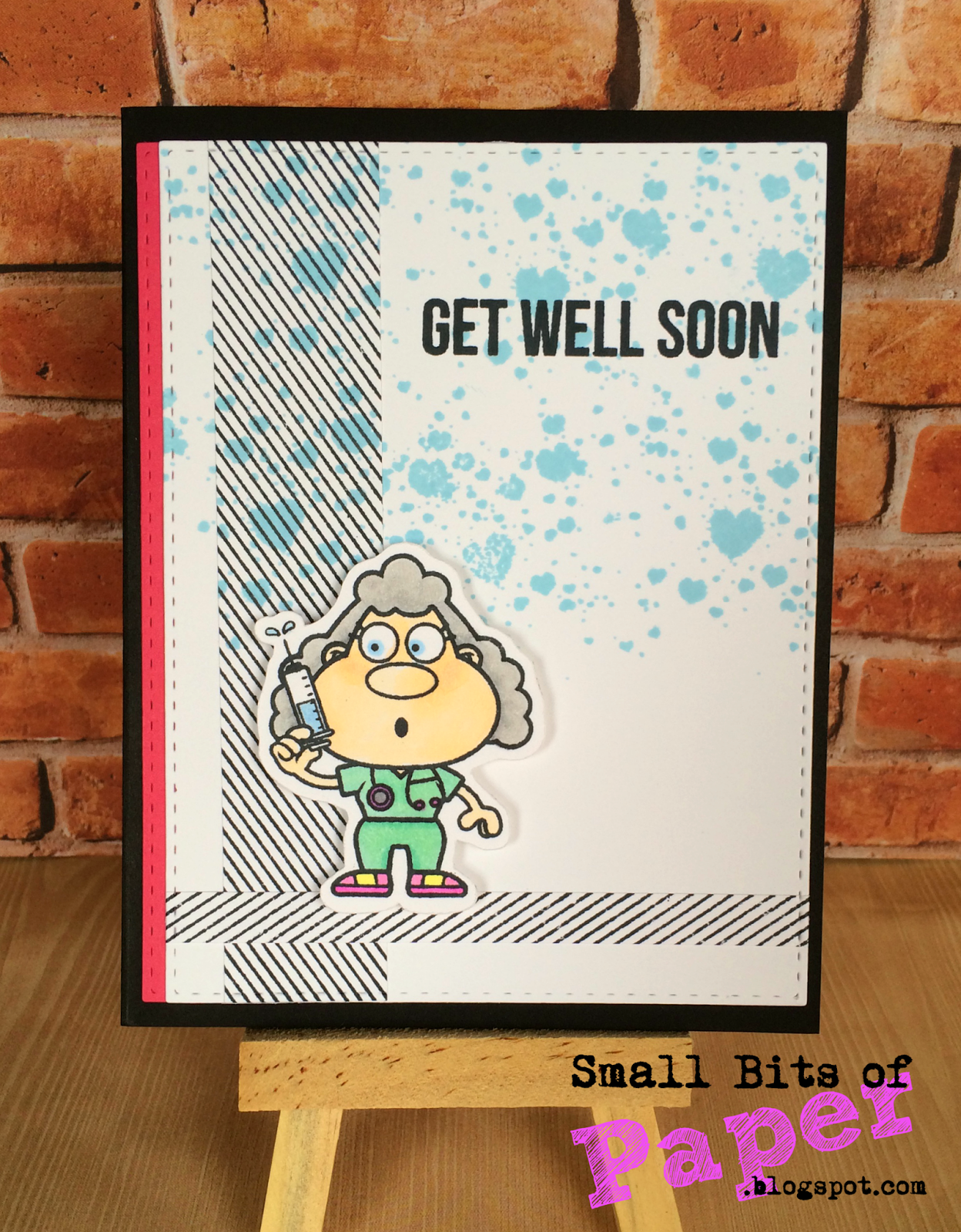 Color your card get well - I Used A Number Of Your Next Stamp Products To Create My Card All Of Which Are Listed Below I Love The Little Nurse With Her Needle And Decided That