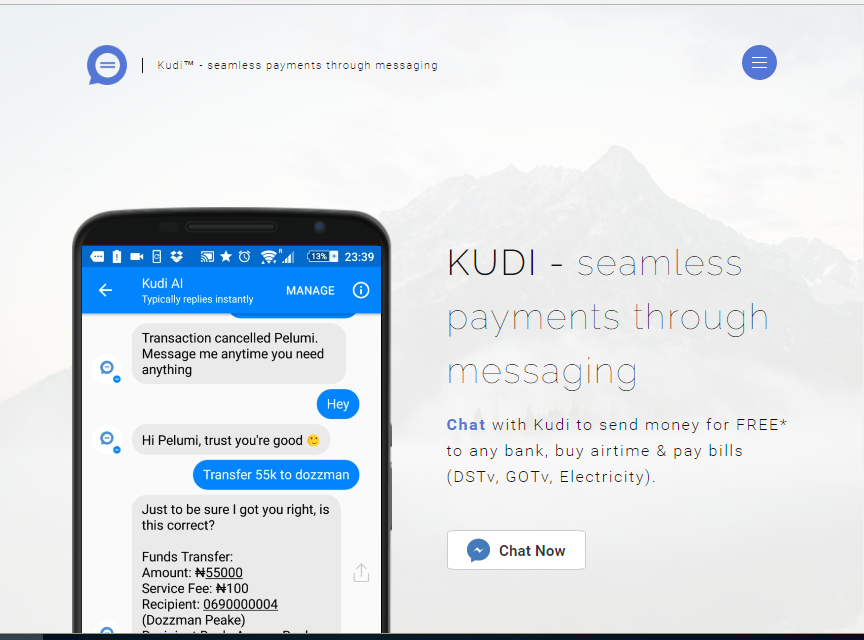 Meet KUDI: A Nigerian Fintech Startup That Lets You Make Payments Via Text Messages