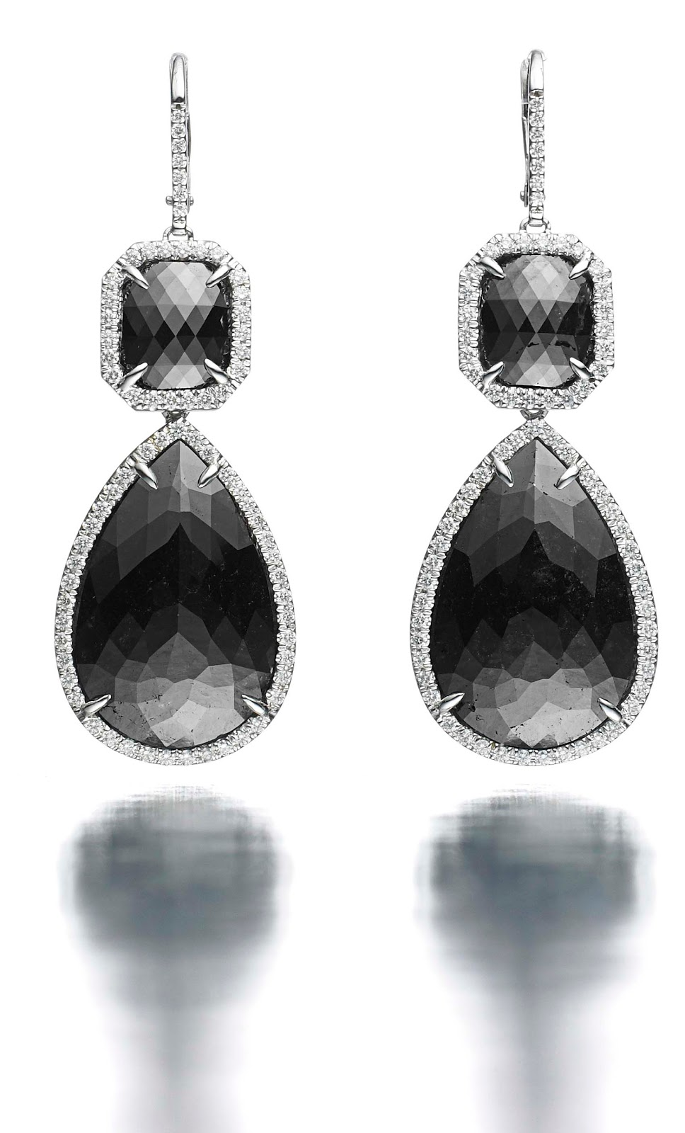 SHE FASHION CLUB: Black Diamond Earrings