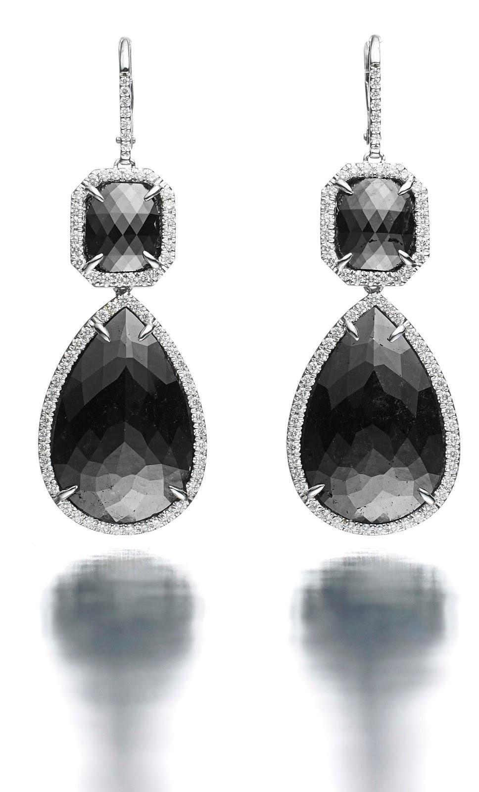 SHE FASHION CLUB: Black Diamond Earrings
