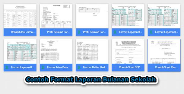 Contoh Format Laporan Bulanan Sekolah