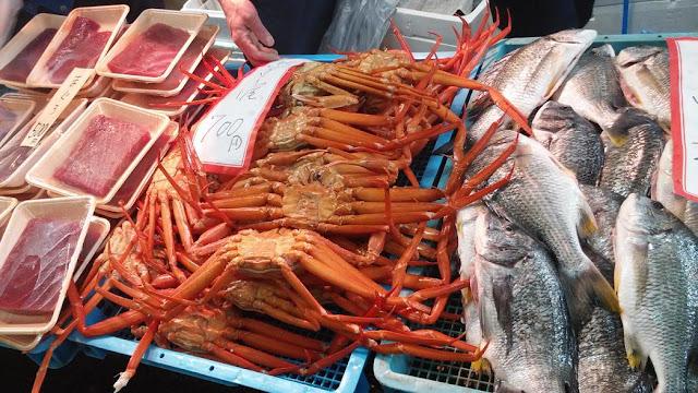 crabes du japon au marché de Kyoto