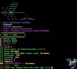 Cara Hack Facebook dengan Tool MBF Termux
