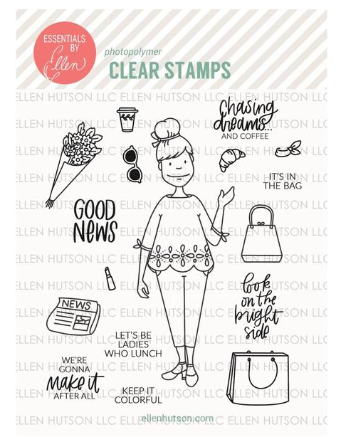 City Lady Stamp Set