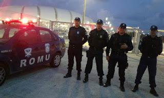Policiamento do jogo Brasil e Bolívia contou com apoio da Guarda Municipal do Natal (RN)