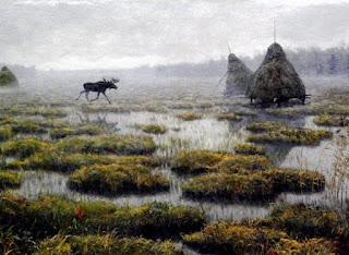 Henryk Weyssenhoff - Łoś na trzęsawisku