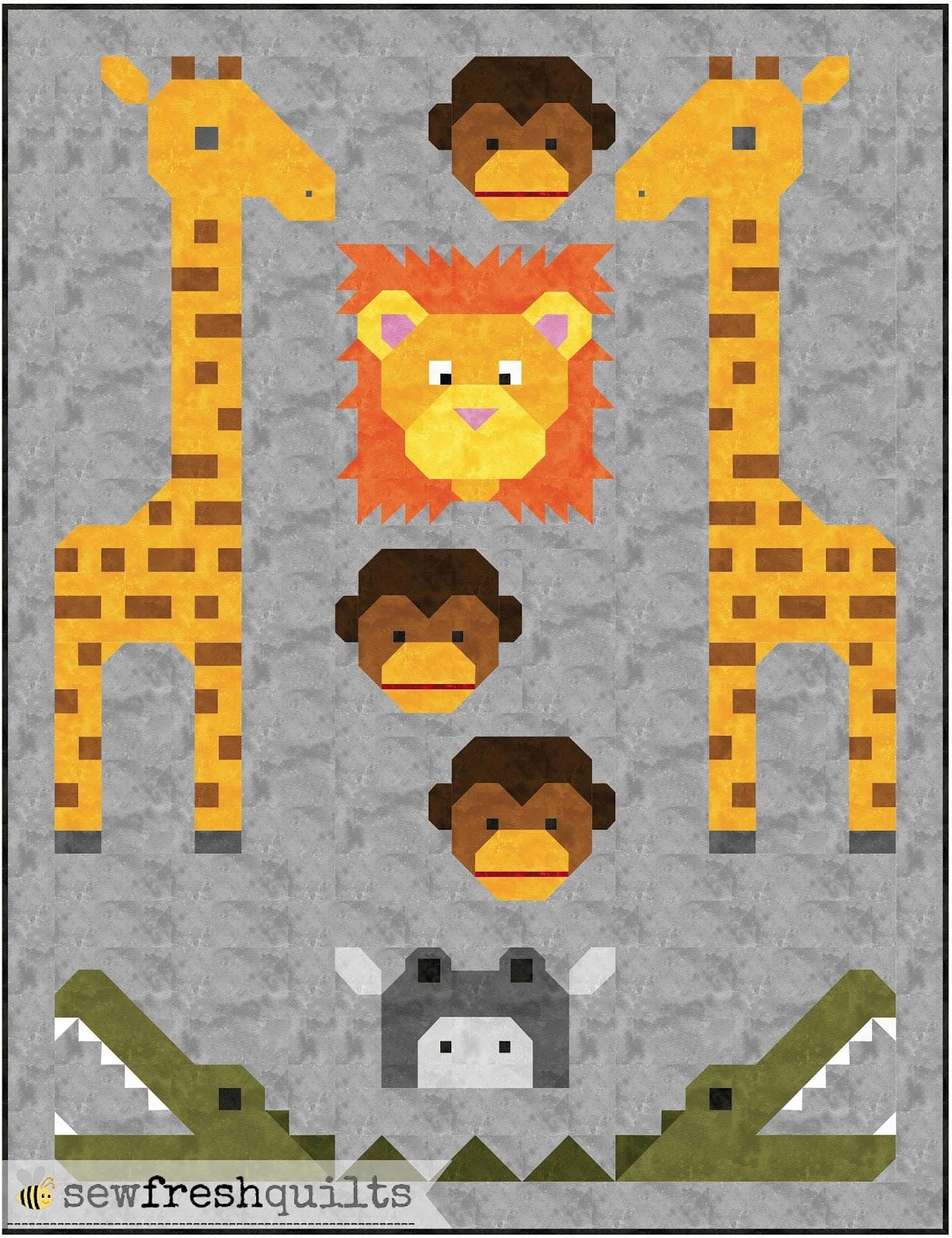 Sew Fresh Quilts: Jungle Friends quilt pattern - Coming Soon! : jungle quilt pattern - Adamdwight.com