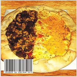 Pizza com cogumelo e queijo