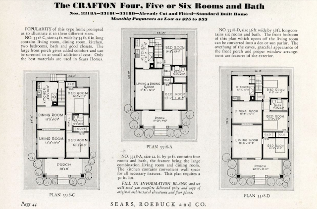 Sears Crafton floor plan options