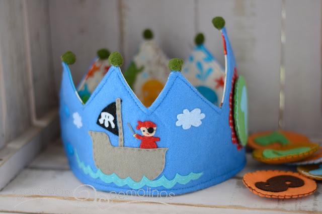 Corona para cumpleaños pirata