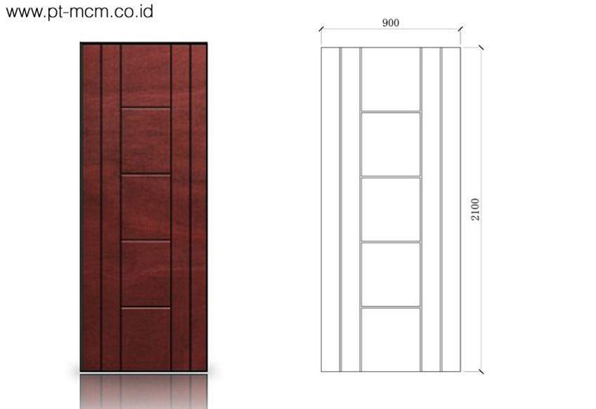 pintu double triplek 1