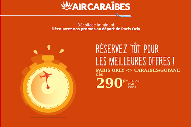 Promo Air Cararibes voyage 290 A/R